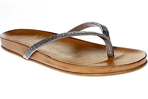 Inuovo 6115 - Sandali Da Donna Pantofole Infradito - grigio, Donna, 39 UE