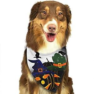Osmykqe Bandanas Chien Heureux Halloween Collier de Collier Foulard Serviette pour bébé Chiot Bandana
