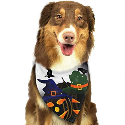 Osmykqe Hundebandanas Happy Halloween Hundehalsband Halstuch Haustier Bandana Welpen Handtuch