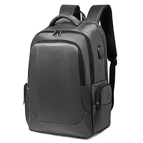 Blwz Laptop-Rucksack,PU Große Kapazität Anti-Diebstahl Reise Casual Student Business Tasche Unisex (18 Zoll),Gray-33 * 19 * 50CM