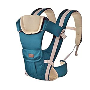 Baby Carrier, Sunzit Baby Carriers Newborn to Toddler Front and Back Breathable Adjustable Swaddle Wrap Ergonomic Breastfeeding Baby Sling Carrier   4