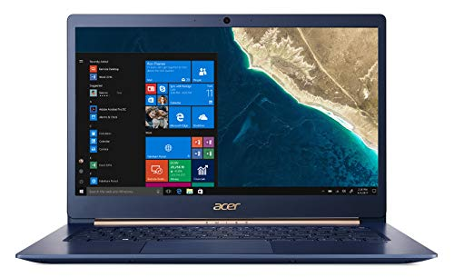"Acer Swift 5 Pro SF514-52TP-812J Notebook Ultra Leggero con Processore Intel Core i7-8550U, RAM 16 GB, 512 GB SSD, Scheda Grafica Intel HD 620, Display 14"" FHD IPS Multi-Touch LCD, Windows 10 Pro, Blu"