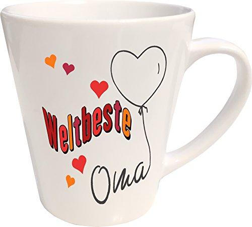 WarmherzIch Latte Tasse Weltbeste Oma Kaffee Milchkaffee Becher liebevoll Bedruckt Omi Großmutter...