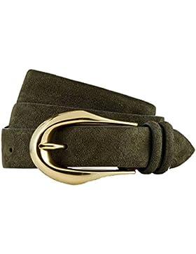 GUT INSTINKT Cinturón de gamuza de cuero italiano de lujo artesanal - SELKUP