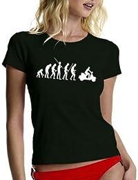 Coole-Fun-T-Shirts Damen T-Shirt Scooter evolution VESPA Roller Scooterist