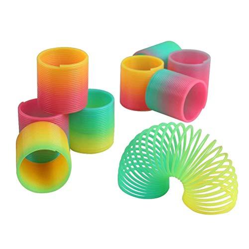 ni Frühling Regenbogen Kunststoff Frühling Spielzeug Dekompression Spielzeug für Spaß und Party Supplies Stress Spielzeug ()