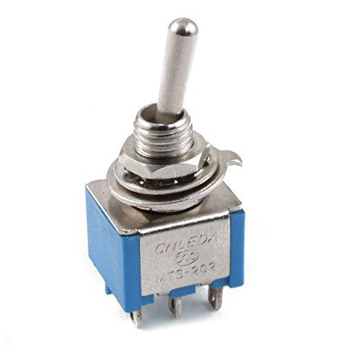 Kippschalter - TOOGOO(R)AC 3A / 250V 6A / 125V 6 Pin DPDT Ein / Ein 2 Position Mini Kippschalter Blau