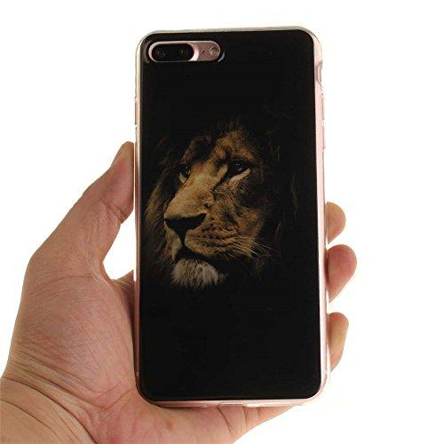 Coque étui Pour Apple iPhone 7 Plus 5.5 pouce Fine Slim Case Poids léger Flexible TPU Gel Anti Choc Peinture Motif Formule Mathématique Noir Couleur-2
