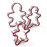 DierCosy 3pcs Premium-Edelstahl Ausstechformen Set Lebkuchen-Jungen-Form-Form mit Rot Umwelt für Küchenwerkzeuge