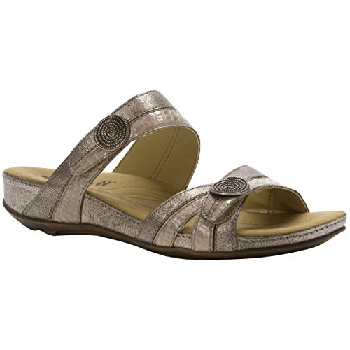 Romika Womens Fidschi 22 Leather Sandals Platinum