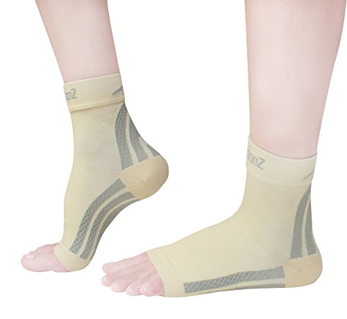 Foot Sleeves (1 Pair) Best Plantar Fasciitis for Men & Women - Heel Arch Support/ Ankle Sock CompressionZ