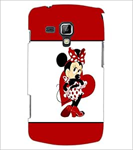 PrintDhaba Minnie Mouse D-1399 Back Case Cover for SAMSUNG GALAXY S DUOS 2 S7582 (Multi-Coloured)