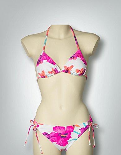 Roxy Damen Spring Fling Floral Bikini M White - Sea Salt -