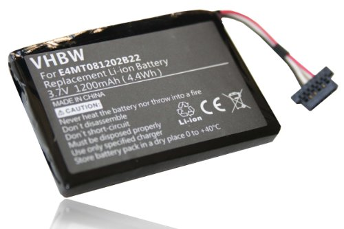 vhbw Li-Polymer Akku 1200mAh (3.7V) für Navigation, GPS Navigon Transonic PNA 7000, 7000T, 7100, 7310, 6000, 6000T, Navman N20 wie 541380530002. 7100-gps-navigation