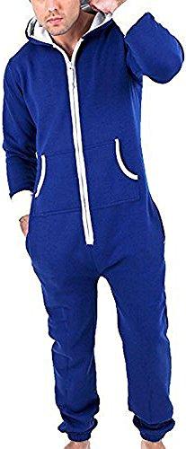 Juicy Trendz Herren Jumpsuit Jogging Trainingsanzug Anzug Overall Blau L (Blauer Overall)