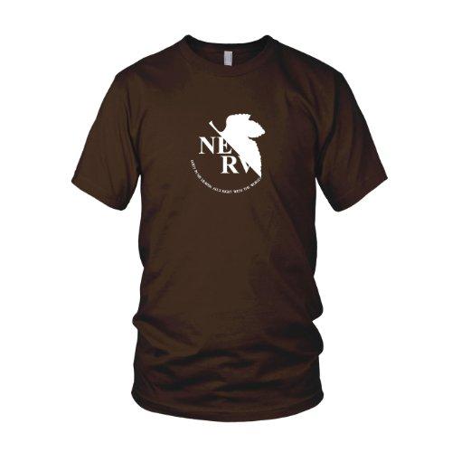 Planet Nerd - Neon Genesis Evangelion - Nerv Logo - Herren T-Shirt Braun