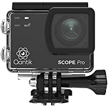 QANTIK SCOPE Pro Caméra sport grand angle 4K Ultra HD action camera écran tactile Stabilisateur d'image WIFI étanche 30M