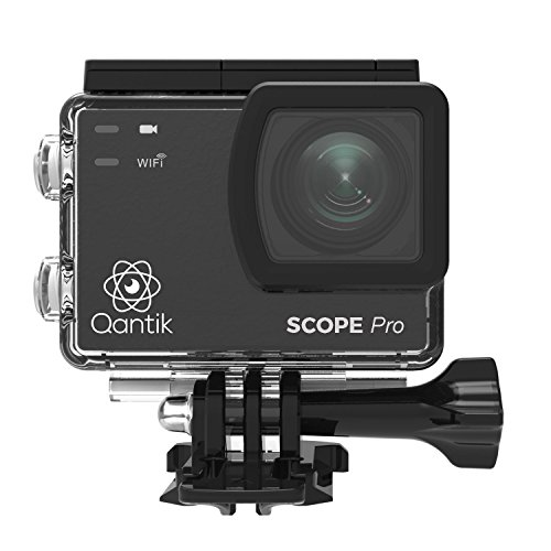 Qantik Scope Pro Kamera Sport-Unisex Erwachsene, schwarz
