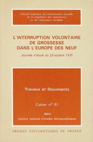 L'interruption volontaire de grossesse, en Europe, 1re édition par Ined