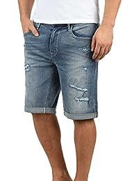 ac97f0887550 Blend Deniz Herren Jeans Shorts Kurze Denim Hose Mit Destroyed-Optik Aus  Stretch-Material