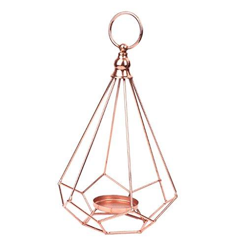 Baoblaze Metall Geometrie Windlicht Laterne Kerzenhalter zum Aufhängen mit für Teelicht/Kerze