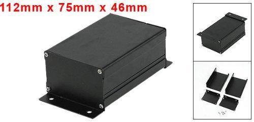 Water & Wood 112mm x 75mm x 46mm Aluminum Enclosure Case DIY Junction Box Black