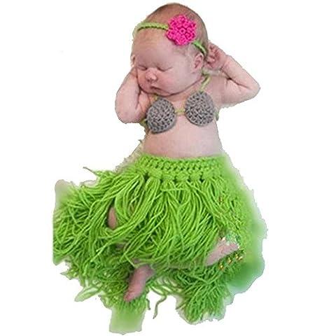 Baby Mädchen Fotografie Prop Outfits, Sondereu Weiche Handgemachte Häkelarbeit Knit Baby Fotografie Props Niedliche Gras Röcke