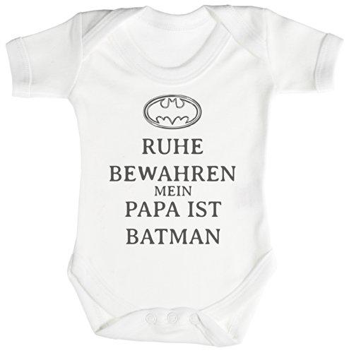 TRS - Ruhe Bewahren Batman Baby Bodys / Strampler Neugeborenen weiß