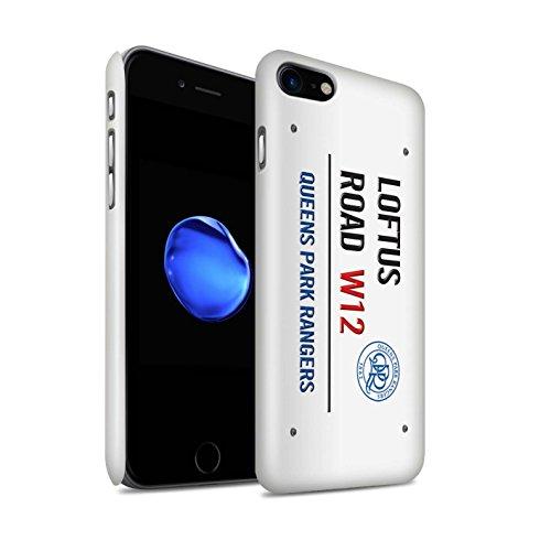 Officiel Queens Park Rangers FC Coque / Clipser Brillant Etui pour Apple iPhone 7 / Blanc/Rose Design / QPR Loftus Road Signe Collection Blanc/Bleu