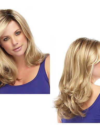 Perruque & xzl Perruques Fashion mode synthétiques perruques afro-américain longs ondulés perruque de cheveux pour les femmes perruques naturelles sexy avec frange sw0086