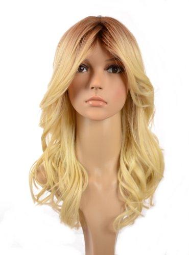 Hair By MissTresses Perruque Longue Ondulée Blond Décoloré