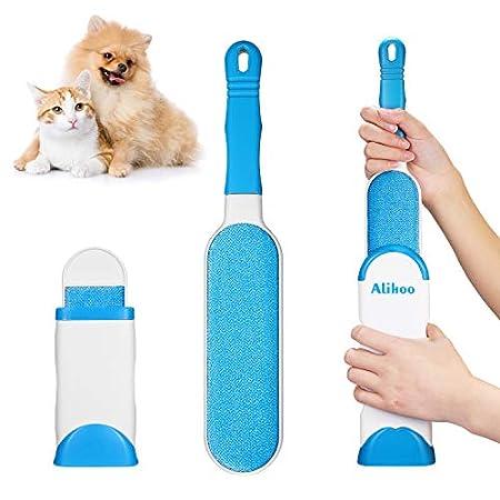 Alihoo Bürste Haarentferner, Pet Pinsel,Neu mit doppelseitiger Fusselbürste und selbstreinigender Basis,perfekt für…