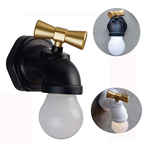 WIVION Nachtlicht-Sprachsteuerung, Neuheit-Hahn-Form-Nachtlicht, LED-Nachtlicht USB, das für Schlafzimmer-Küche-Kinderzimmer-Flur auflädt - Hahn Neuheit