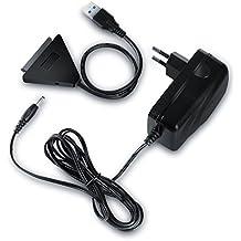 CSL - USB 3.0 Sata Cable adaptador / convertidor para HDD/unidades de disco SSD de 2,5 ''/3,5'' | USB Attached SCSI Protocol (UASP) | SATA 3 / 6G | Sustitución en caliente