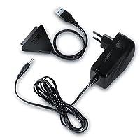 Connexion UASP rapide pour votre disque dur !   Cet adaptateur/convertisseur USB 3.0 à SATA permet de connecter tout disque dur SATA de 3,5 ou  2,5 pouces à votre ordinateur à l'aide d'un transfert de données rapide USB 3.0 Super Speed.Réalisez  une ...