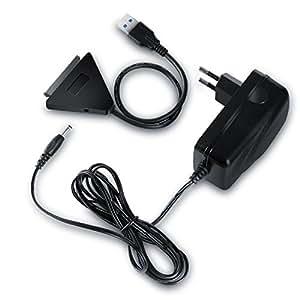 CSL - USB 3.0 à SATA Adaptateur / convertisseur pour disques durs HDD / SDD SATA de 2,5 / 3,5 pouces avec alimentation externe | protocole USB Attached SCSI (UASP) | SATA 3 / 6G | changement à chaud