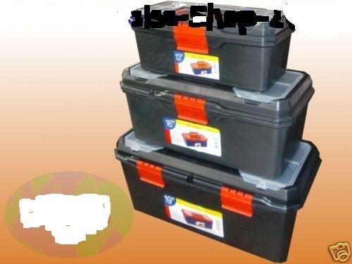 Werkzeugkoffer Werkzeugkiste Werkzeugkasten 3er Set Neu