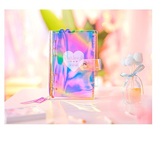 GN&LM Cuaderno A6 Cuaderno De Pvc Kawaii Journal Stationery School Tools Supplie