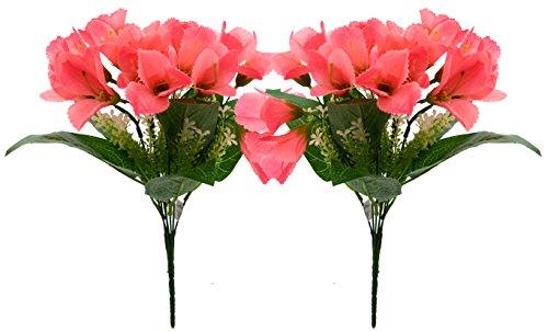 Fourwalls Artificial Polyester Mini Lily Flower Bouquet (11 cm x 11 cm...