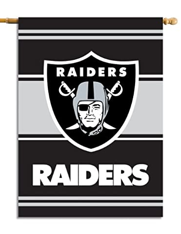 NFL Oakland Raiders 2-Sided 28-by-40-Inch House Banner
