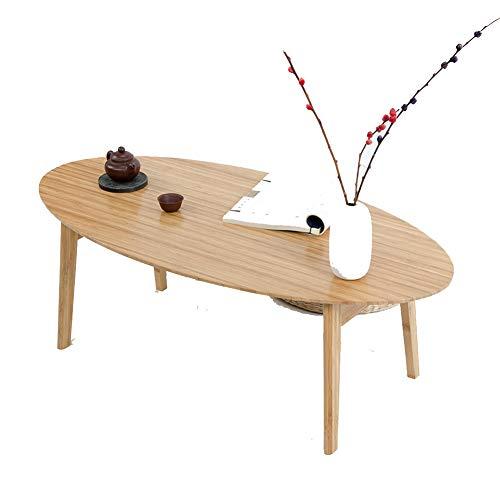 KSUNGB MesaPlegable Estilo japones Sencillo Bambú Multifuncional Mesa de la Sala Comedor Escritorio de computadora Soporte para Laptop Mesa de Aprendizaje,Woodcolor,100 * 50 * 34cm