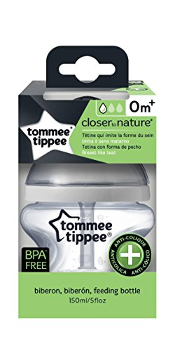 Tommee Tippee Closer to Nature - Biberón anticólico, 150 ml