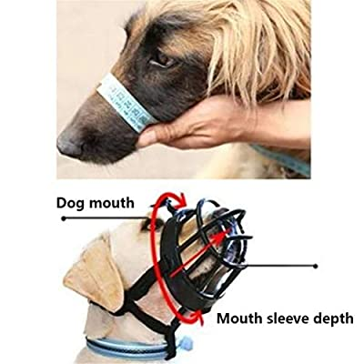 GFEU Silicone Adjustable Basket Dog Muzzles Guard to Prevents Biting Chewing Barking Safely Secure from GFEU