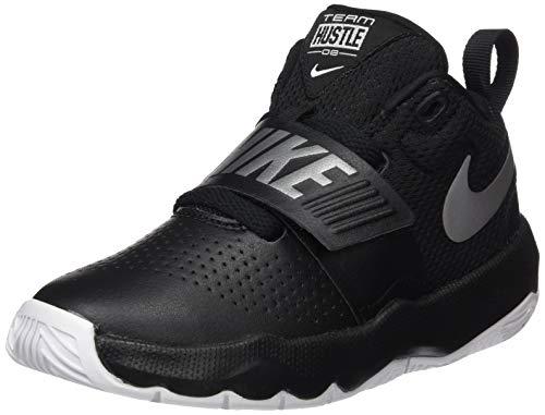 Nike Jungen Team Hustle D 8 Basketballschuhe, Schwarz (Black/Metallic Silver/White 001), 29.5 EU