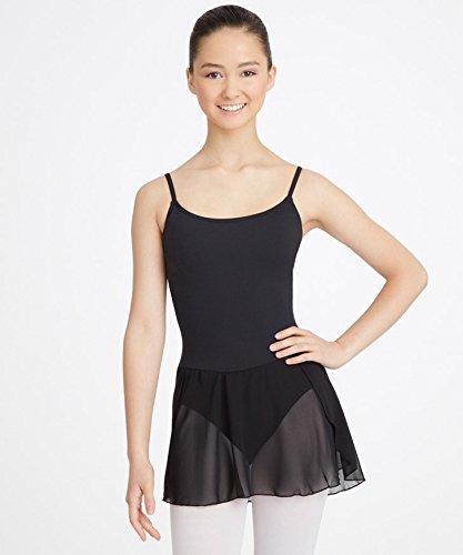 Ballettkleid/ Balletttrikot mit Rock für Damen von Capezio Schwarz