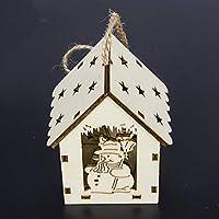 SeniorMar SUI Bao árbol de Navidad con Luces Colgante de la Cabina Decoraciones de Navidad Creativo Colgante de Navidad al por Mayor