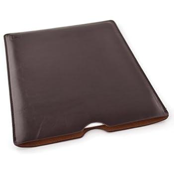 Leder iPad Sleeve - Tablet-Hülle Sleeve von Dockem; Schlank, Einfache und Professional Vorstand mit weicher Mikrofaser gefüttert Filz Dunkelbraun Basic-Synthetic-Leder Schutzhülle Tablet Tasche Cover für iPad 1, 2, 3, 4, oder iPad Air, iPad Pro 9.7 mit Smart Cover