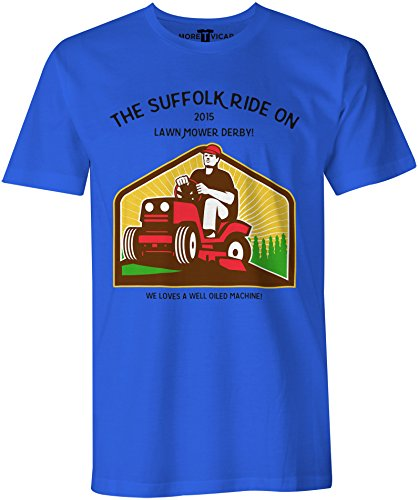 The Suffolk Lawn Mower Derby - Herren Slogan T Shirt Königsblau