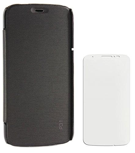DMG Flip Book Hard Back Cover Case For Panasonic P31 (Black) + Screen Guard  available at amazon for Rs.299