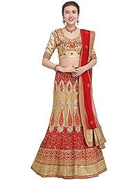 69076755018 Aasvaa Beige Color Nett Embroidered Semi-Stitched Lehenga Choli  (NMMY16A7003CDP)